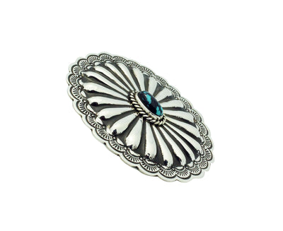 Load image into Gallery viewer, Arnold Blackgoat, Ring, Burnham Turquoise, Large, Concho, Navajo Handmade, 7