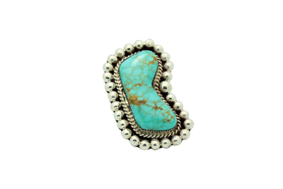 Load image into Gallery viewer, Ray Nez, Ring, Turquoise Mountain, Big, Sterling Silver, Navajo Handmade, 11