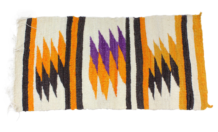 Gallup Throw Rug, Navajo Wool Cotton, Handwoven, 36