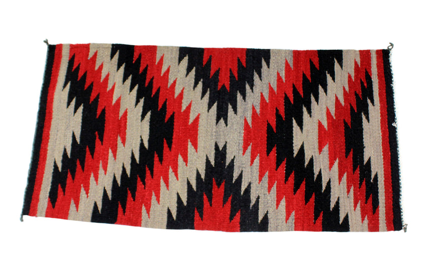 Selena Daniels, Gallup Throw Rug, Navajo Wool Cotton, Handwoven, 40