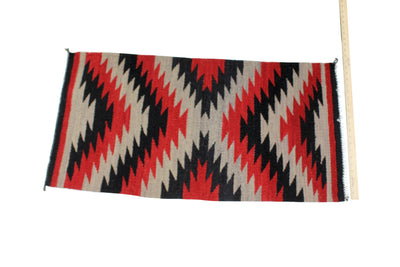 "Load image into Gallery viewer, Selena Daniels, Gallup Throw Rug, Navajo Wool Cotton, Handwoven, 40"" x 21.5"""