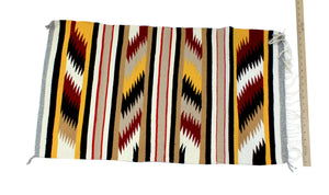 "Gallup Throw Rug, Navajo Wool Cotton, Handwoven, 36"" x 20"""