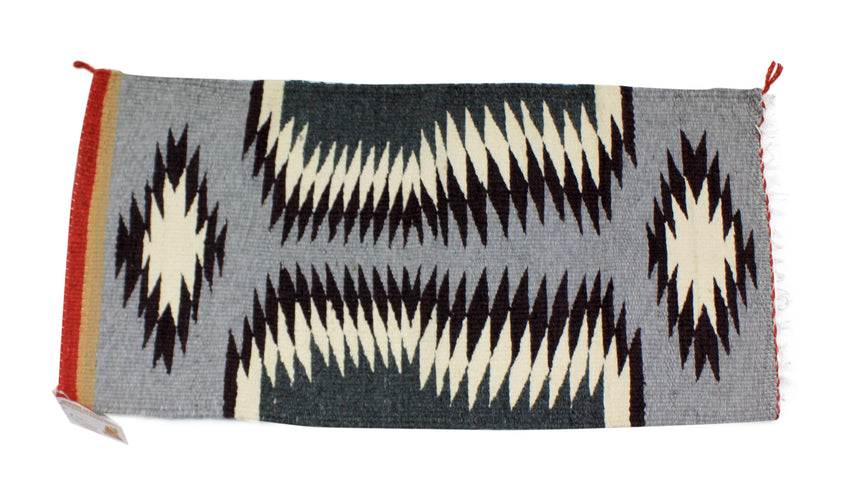 Gallup Throw Rug, Navajo Wool Cotton, Handwoven, 35