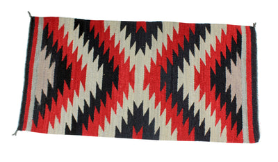 "Load image into Gallery viewer, Selena Daniels, Gallup Throw Rug, Navajo Wool Cotton, Handwoven, 39.5"" x 20.25"""
