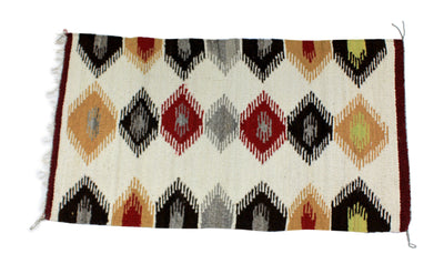 "Load image into Gallery viewer, Faye Peterson, Gallup Throw Rug, Navajo Wool Cotton, Handwoven, 36.5"" x 20"""