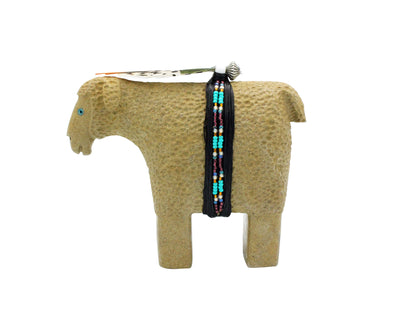Load image into Gallery viewer, Harold Davidson, Sheep Fetish, Alabatser, Navajo, Handmade, 4