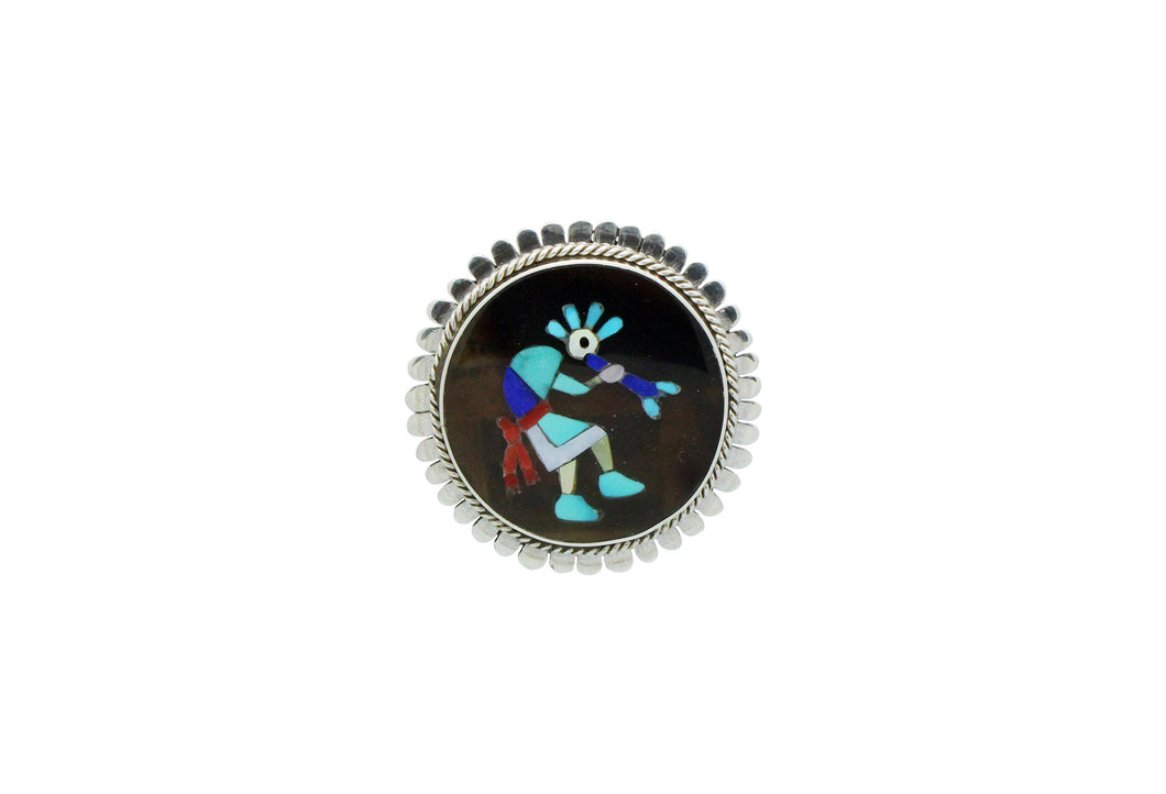 Nancy, Ruddell Laconsello, Pin, Pendant, Kokopelli, Inlay, Zuni Handmade, 1.5