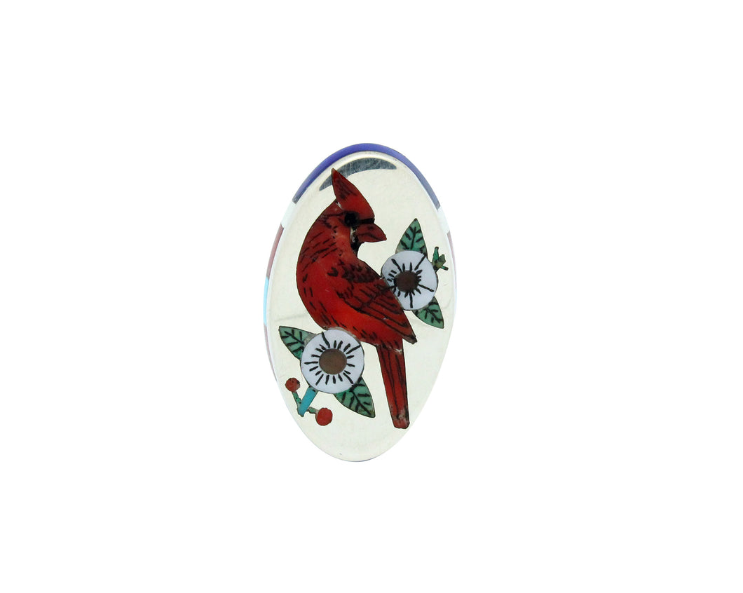 Nancy, Ruddell Laconsello, Ring, Cardinal, Coral, Turquoise, Lapis, Zuni, 7.5