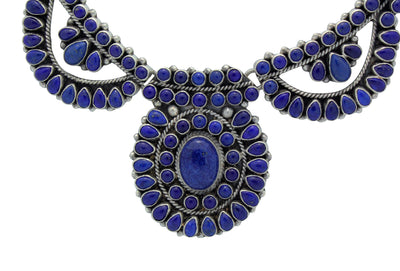 Load image into Gallery viewer, Dave Lister, Necklace, Lapis Lazuli, Cluster, Earrings, Navajo Handmade, 23