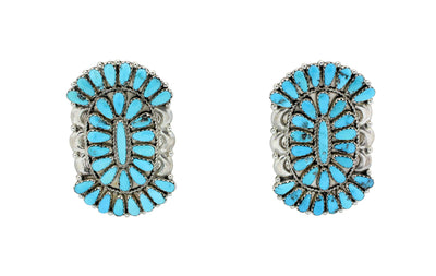 Load image into Gallery viewer, Saraphina, Justin Wilson, Earrings, Cluster, Turquoise, Navajo Handmade, 2