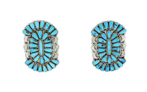 Saraphina, Justin Wilson, Earrings, Cluster, Turquoise, Navajo Handmade, 2