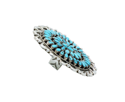 Load image into Gallery viewer, Juspert Wilson, Ring, Sleeping Beauty Turquoise, Cluster, Navajo Handmade, 7.5