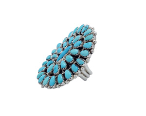 Erick Wilson, Ring, Traditional Cluster, Sleeping Beauty Turquoise, Navajo, 10