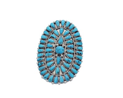 Load image into Gallery viewer, Stephanie Wilson, Ring, Sleeping Beauty Turquoise, Cluster, Navajo Made, 8