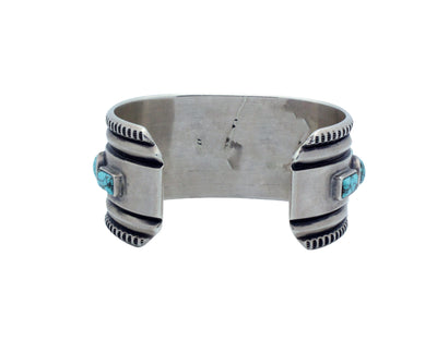 Load image into Gallery viewer, Harrison Jim, Bracelet, Number Eight Turquoise, Silver, Navajo Handmade,     6.5