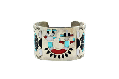 Load image into Gallery viewer, Fred, Lolita Natachu, Bracelet, Rainbow Man, Zuni Handmade, Circa 1980s, 6 5/8""
