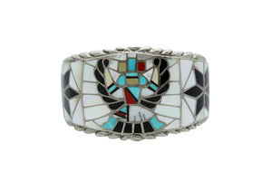 Ralph, Lillie, Kallestewa, Bracelet, Knifewing, Inlay, Zuni, Circa 1960s, 6 15/16""