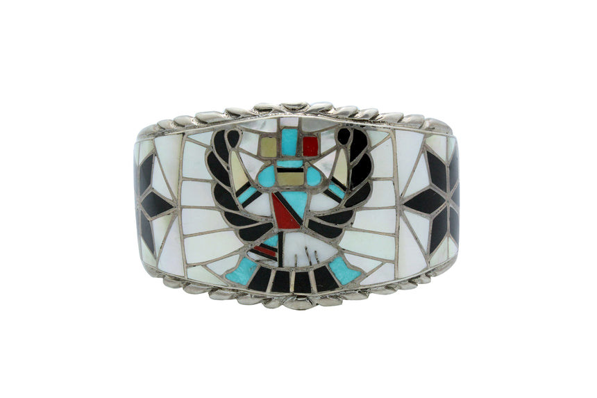 Ralph, Lillie, Kallestewa, Bracelet, Knifewing, Inlay, Zuni, Circa 1960s, 6.75