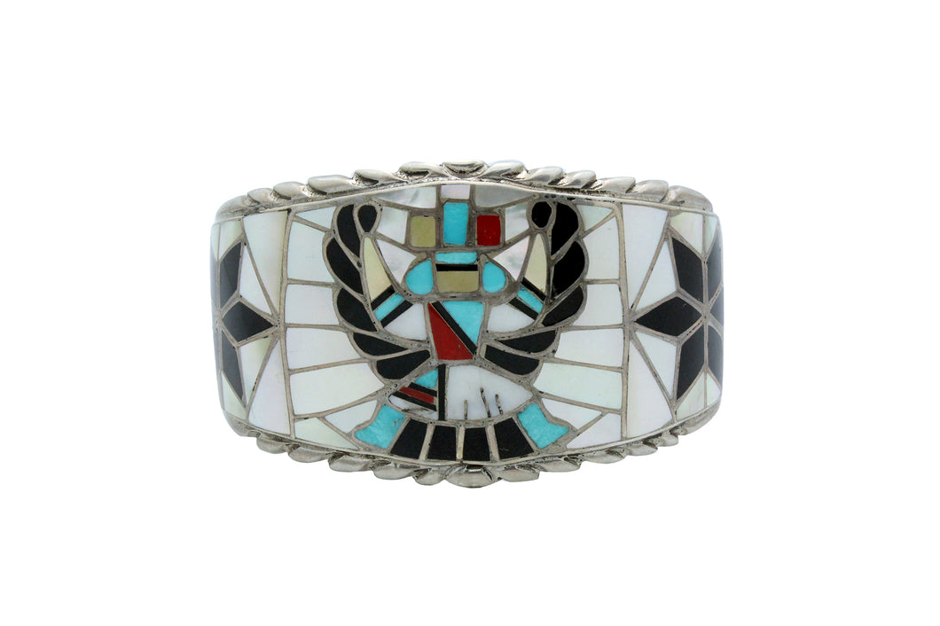 Ralph, Lillie, Kallestewa, Bracelet, Knifewing, Inlay, Zuni, Circa 1960s, 6 15/16