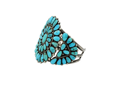 Load image into Gallery viewer, Leroy Thomas, Bracelet, Cluster, Lone Mountain Turquoise, Circa 1960s, 6.75