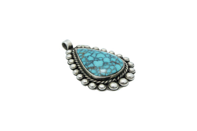 Load image into Gallery viewer, Navajo Handmade, Pendant, Number Eight Turquoise, Unsigned, Circa 1950s, 1.6