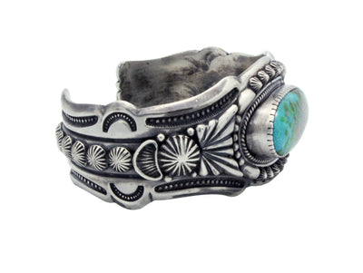 Load image into Gallery viewer, Harry H Begay, Bracelet, Sonoran Gold Turquoise, Ingot, Navajo Handmade, 7 1/4""