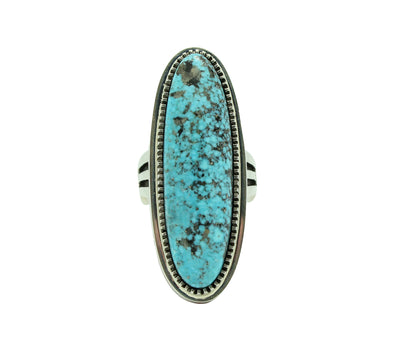 Load image into Gallery viewer, Floyd Parkhurst, Ring, Contemporary, Kingman Turquoise, Coral, Navajo Made, 12