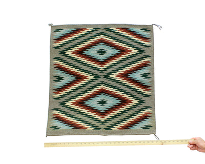 "Load image into Gallery viewer, Betty Nez, Wide Ruins Rug, Navajo, Handwoven, 27""x 28.5"""