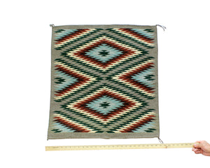 "Betty Nez, Wide Ruins Rug, Navajo, Handwoven, 27""x 28.5"""