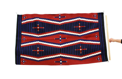 "Load image into Gallery viewer, Lucy Manning, Navajo Rug, Chief Blanket, Handwoven, 70"" x 40"""