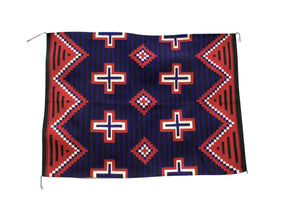 "Theresa Begay, Navajo Rug, Chief Blanket, Handwoven, 57"" x 41"""