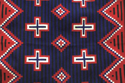 "Load image into Gallery viewer, Theresa Begay, Navajo Rug, Chief Blanket, Handwoven, 57"" x 41"""