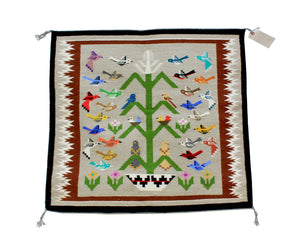 "Marilyn Begay, Tree Of Life Rug, Navajo, Handwoven, 33"" x 36"""