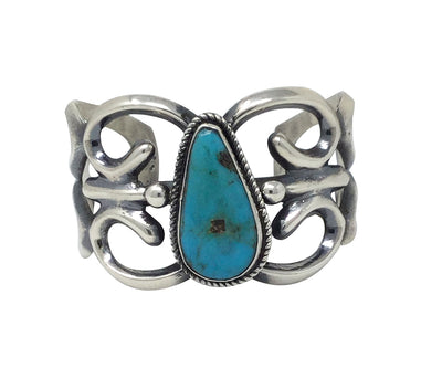 Load image into Gallery viewer, Carole, Wilson Begay, Bracelet, Easter Blue Turquoise, Navajo Handmade, 6 3/4""