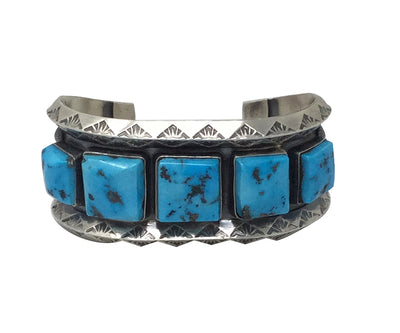 Load image into Gallery viewer, Freddie Maloney, Bracelet, Sleeping Beauty Turquoise, Navajo Handmade, 6 3/4""