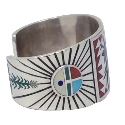 Load image into Gallery viewer, Nancy, Ruddell Laconsello, Bracelet, Gold Finch, Zuni Handmade, 6 1/2''