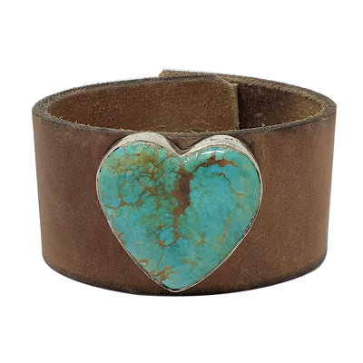 Load image into Gallery viewer, Gary Custer, Bracelet, Heart, Turquoise Mountain, Navajo Handmade, 8 1/2""