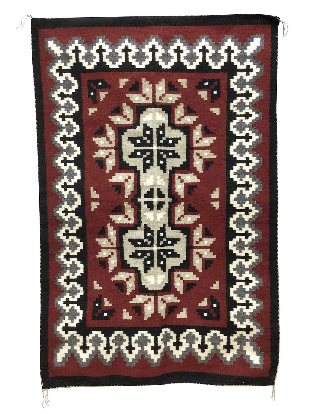 Linda Joe, Ganado Red Rug, Navajo Handwoven, Double Diamond, 60