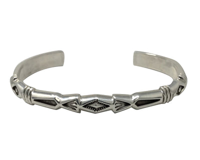 Load image into Gallery viewer, Jennifer Curtis, Bracelet,Half Round Wire,Stamping,Navajo Handmade, 6 1/2