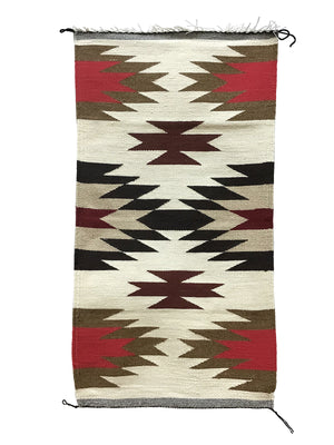 "Load image into Gallery viewer, Gallup Throw Rug, Navajo Handwoven, Wool, Cotton, 38"" x 20"""