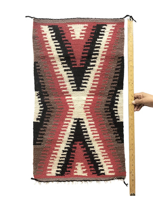 "Load image into Gallery viewer, Marie Skeet,, Gallup Throw Rug, Navajo Handwoven, Wool, Cotton, 33"" x 18"""