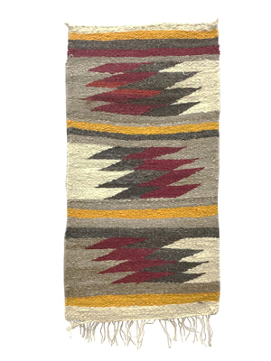 "Load image into Gallery viewer, Irene Skeets, Gallup Throw Rug, Navajo Handwoven, Wool, Cotton, 36"" x 18"""