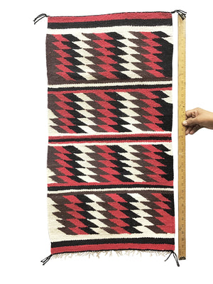 "Load image into Gallery viewer, Alice Spencer, Gallup Throw Rug, Navajo Handwoven, Wool, Cotton, 35"" x 18"""