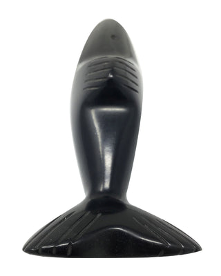 "Load image into Gallery viewer, Herbert Halate, Dolphin, Jet, Handmade Zuni Fetish, 1 1/2"" x 4 3/4"""
