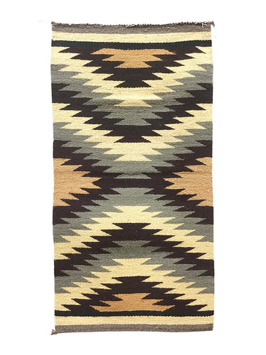 "Celina Daniels, Gallup Throw Rug, Navajo Handwoven, Wool, Cotton, 39"" x 21"""