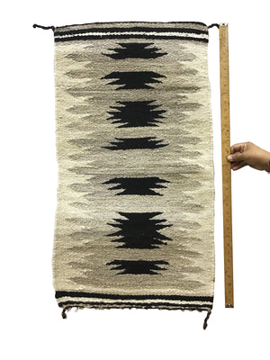 "Load image into Gallery viewer, Gloria Francisco, Gallup Throw Rug, Navajo Handwoven, Wool, Cotton, 36"" x 20"""