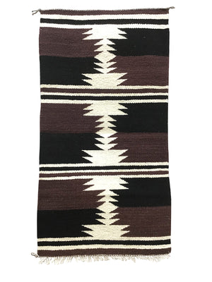 "Load image into Gallery viewer, Gallup Throw Rug, Navajo Handwoven, Wool, Cotton, 33 1/2"" x 18"""