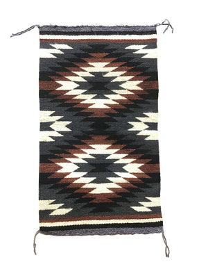 "Load image into Gallery viewer, Sally Arviso, Gallup Throw Rug, Navajo Handwoven, Wool, Cotton, 35"" x 20"""
