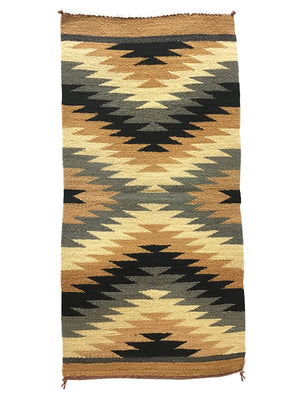 "Load image into Gallery viewer, Celina Daniels, Gallup Throw Rug, Navajo Handwoven, Wool, Cotton, 39"" x 19 1/2"""
