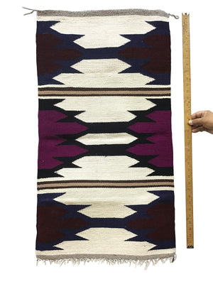 "Load image into Gallery viewer, Faye Peterson, Gallup Throw Rug, Navajo Handwoven, Wool, Cotton, 37"" x 20 1/2"""